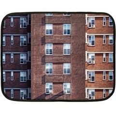 New York Building Windows Manhattan Fleece Blanket (Mini)