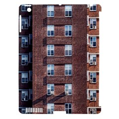 New York Building Windows Manhattan Apple iPad 3/4 Hardshell Case (Compatible with Smart Cover)