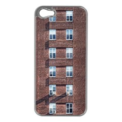 New York Building Windows Manhattan Apple iPhone 5 Case (Silver)