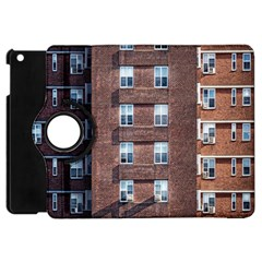 New York Building Windows Manhattan Apple Ipad Mini Flip 360 Case
