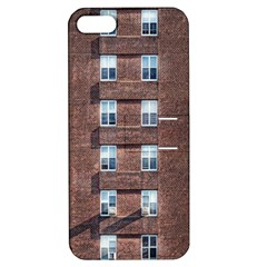 New York Building Windows Manhattan Apple Iphone 5 Hardshell Case With Stand
