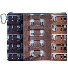 New York Building Windows Manhattan Canvas Cosmetic Bag (XXXL)
