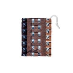 New York Building Windows Manhattan Drawstring Pouches (XS)
