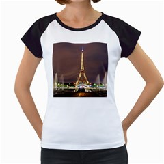 Paris Eiffel Tower Women s Cap Sleeve T