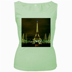Paris Eiffel Tower Women s Green Tank Top