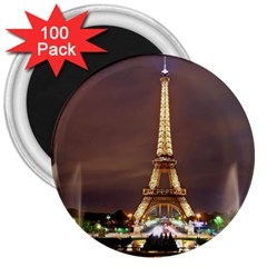 Paris Eiffel Tower 3  Magnets (100 pack)