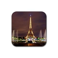 Paris Eiffel Tower Rubber Square Coaster (4 pack)