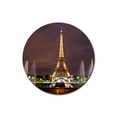 Paris Eiffel Tower Rubber Coaster (Round)