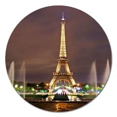 Paris Eiffel Tower Magnet 5  (Round)