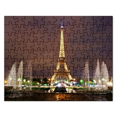 Paris Eiffel Tower Rectangular Jigsaw Puzzl