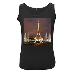 Paris Eiffel Tower Women s Black Tank Top