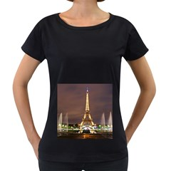 Paris Eiffel Tower Women s Loose-Fit T-Shirt (Black)