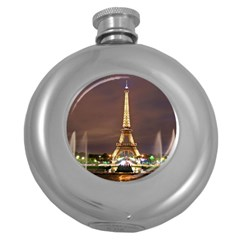 Paris Eiffel Tower Round Hip Flask (5 oz)