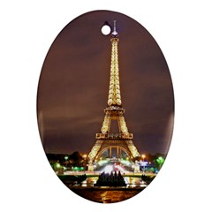 Paris Eiffel Tower Oval Ornament (Two Sides)