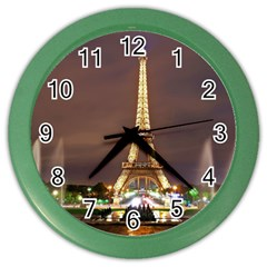 Paris Eiffel Tower Color Wall Clocks