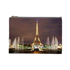 Paris Eiffel Tower Cosmetic Bag (Large)