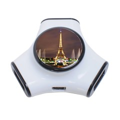 Paris Eiffel Tower 3-Port USB Hub