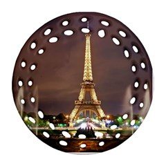 Paris Eiffel Tower Ornament (Round Filigree)