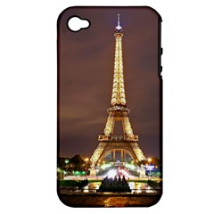 Paris Eiffel Tower Apple iPhone 4/4S Hardshell Case (PC+Silicone)