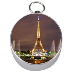 Paris Eiffel Tower Silver Compasses