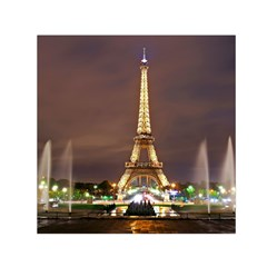 Paris Eiffel Tower Small Satin Scarf (square)