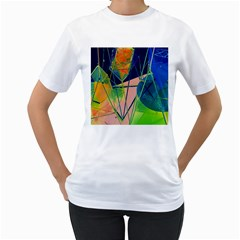 New Form Technology Women s T-Shirt (White) (Two Sided)