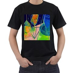 New Form Technology Men s T-Shirt (Black) (Two Sided)
