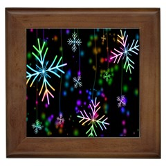 Nowflakes Snow Winter Christmas Framed Tiles