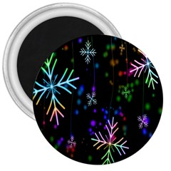 Nowflakes Snow Winter Christmas 3  Magnets
