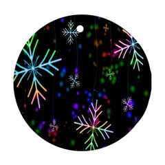Nowflakes Snow Winter Christmas Ornament (Round)