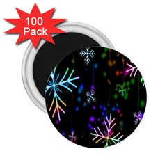 Nowflakes Snow Winter Christmas 2.25  Magnets (100 pack)