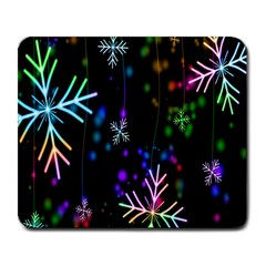 Nowflakes Snow Winter Christmas Large Mousepads