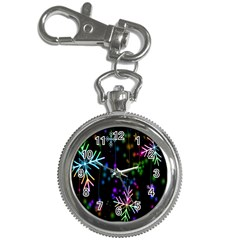 Nowflakes Snow Winter Christmas Key Chain Watches