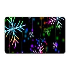 Nowflakes Snow Winter Christmas Magnet (Rectangular)