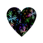 Nowflakes Snow Winter Christmas Heart Magnet Front