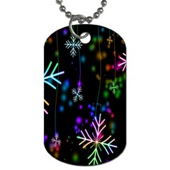 Nowflakes Snow Winter Christmas Dog Tag (One Side)