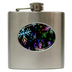 Nowflakes Snow Winter Christmas Hip Flask (6 oz)