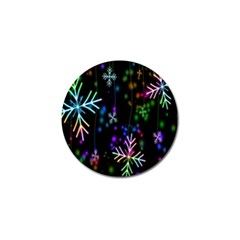 Nowflakes Snow Winter Christmas Golf Ball Marker