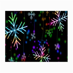 Nowflakes Snow Winter Christmas Small Glasses Cloth