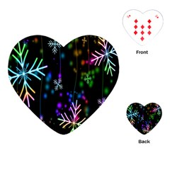 Nowflakes Snow Winter Christmas Playing Cards (Heart)