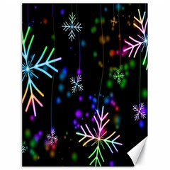 Nowflakes Snow Winter Christmas Canvas 18  x 24