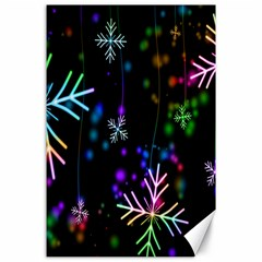 Nowflakes Snow Winter Christmas Canvas 24  x 36