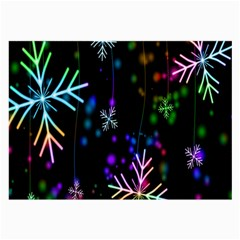 Nowflakes Snow Winter Christmas Large Glasses Cloth (2-Side)