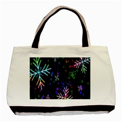 Nowflakes Snow Winter Christmas Basic Tote Bag (Two Sides)