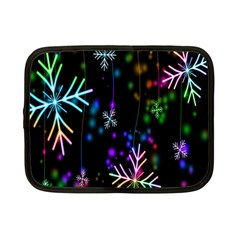 Nowflakes Snow Winter Christmas Netbook Case (small)