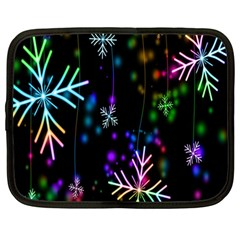 Nowflakes Snow Winter Christmas Netbook Case (Large)