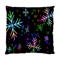 Nowflakes Snow Winter Christmas Standard Cushion Case (One Side)