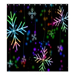 Nowflakes Snow Winter Christmas Shower Curtain 66  x 72  (Large)