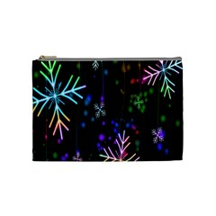 Nowflakes Snow Winter Christmas Cosmetic Bag (Medium)
