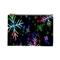 Nowflakes Snow Winter Christmas Cosmetic Bag (Large)
